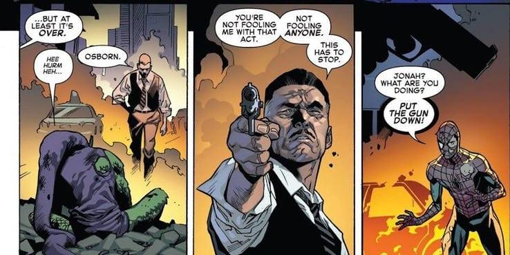 j jonah jameson atira no homem aranha