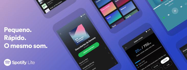 Spotify lite: pequeno, rápido, o mesmo som