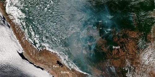 Satelite da Nasa detecta perigo na Amazônia e Bolsonaro comenta queimadas
