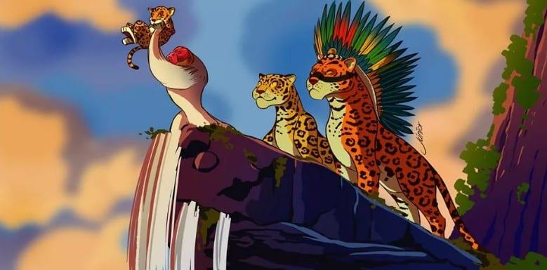Ilustrador faz releitura de O Rei Leão com espécies da Amazônia
