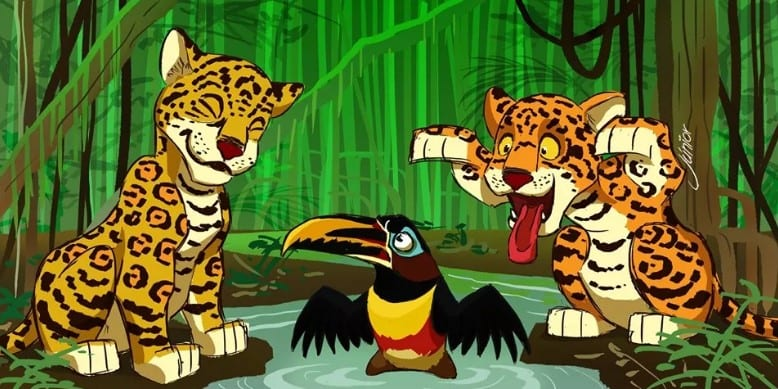 o rei leão amazônia desmatamento queimada releitura