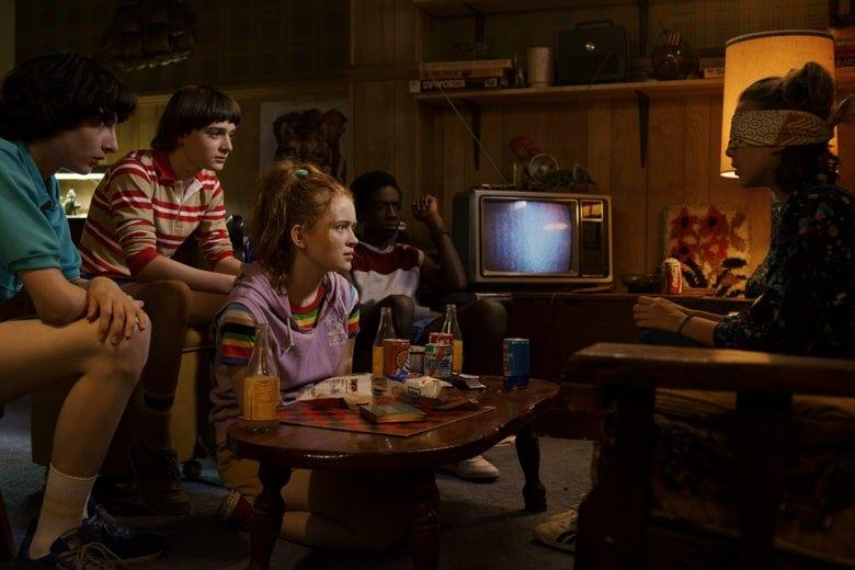 coisas da década de 80 em Stranger Things