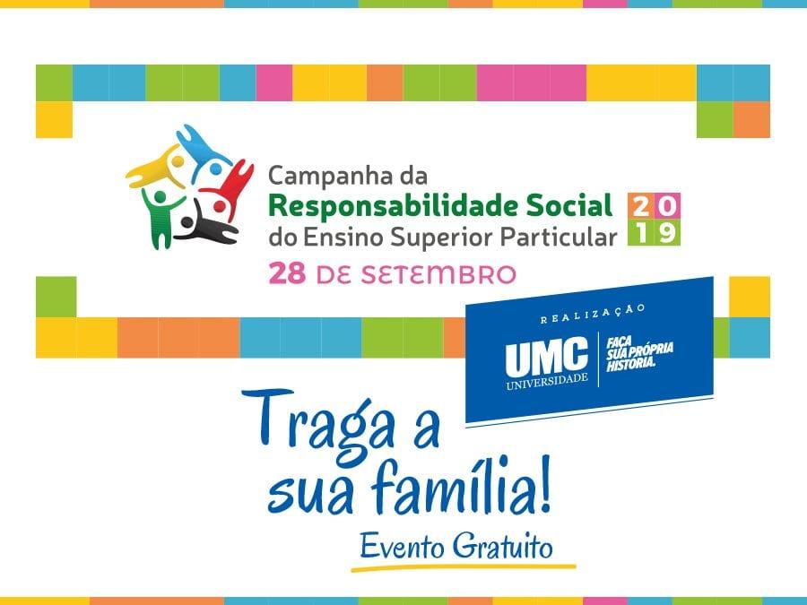 """UMC realizará o """"Dia da Responsabilidade Social"""" no Parque da Cidade"""