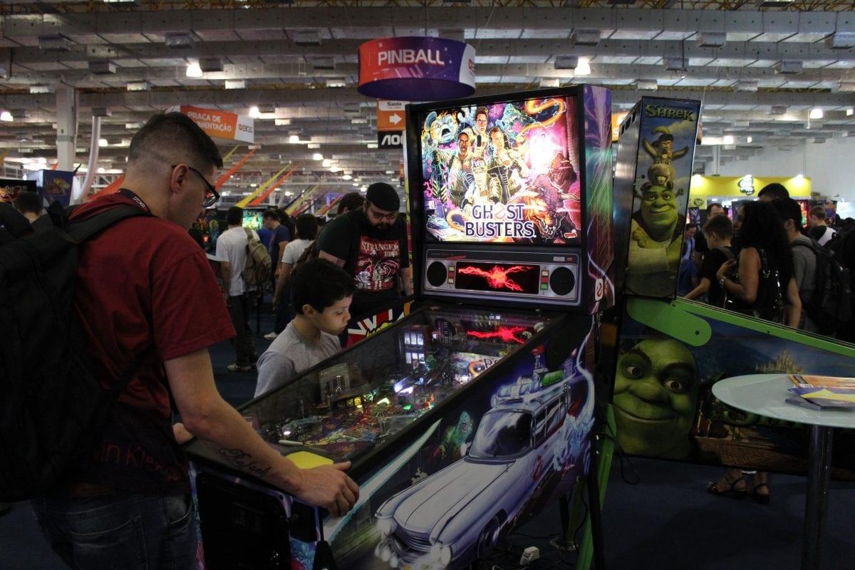 BGS: Área conta com 150 máquinas de Pinball e diversos jogos Arcade