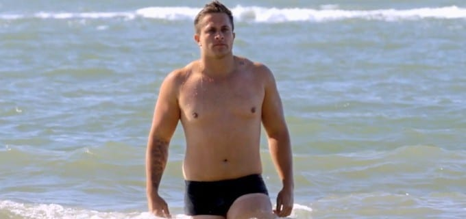 participante de férias com o ex gordo