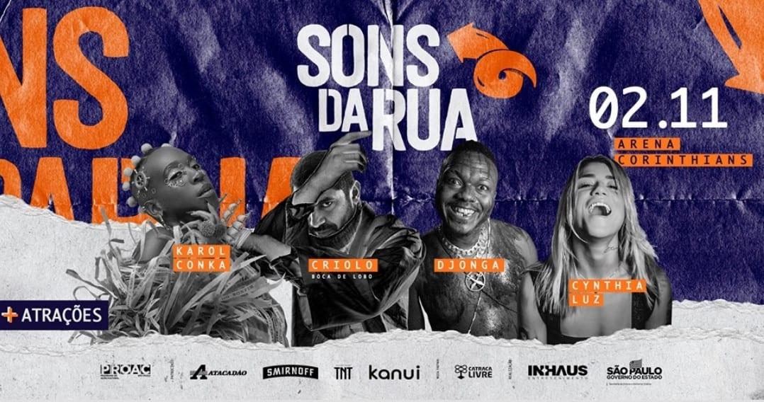 Sons da Rua 2019: Criolo, Djonga, Karol Conka e Rincon Sapiência