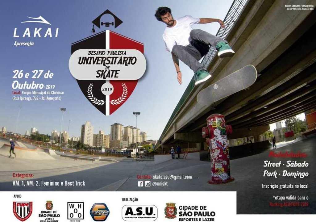 Desafio Paulista Universitário de Skate oferecerá bolsas de estudo