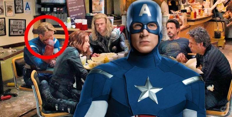 Por que o Capitão América não comeu Shawarma naquela cena dos Vingadores