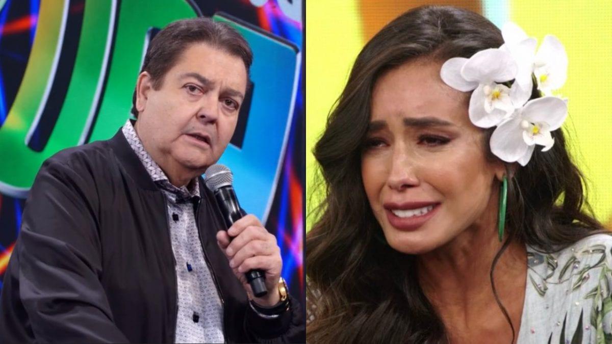Faustão anuncia morte de mãe de sua bailarina, Tati Scarletti