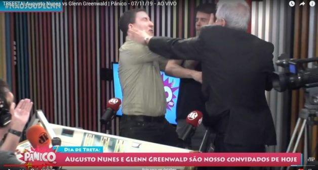 Augusto Nunes troca tapas com Glenn Greenwald na Jovem Pan