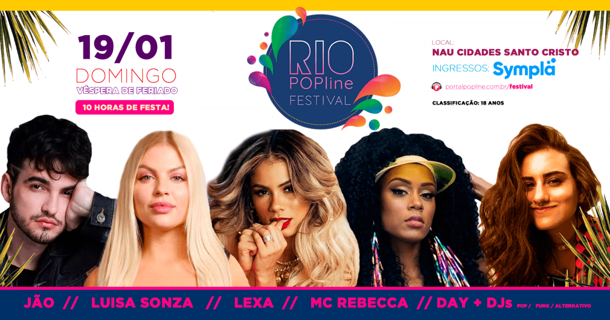 Rio POPline Festival traz Jão, Lexa e mais como atrações