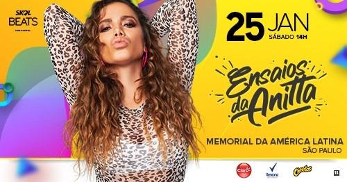 """Anitta comanda o """"Ensaios  da Anitta"""" no Memorial da América Latina"""