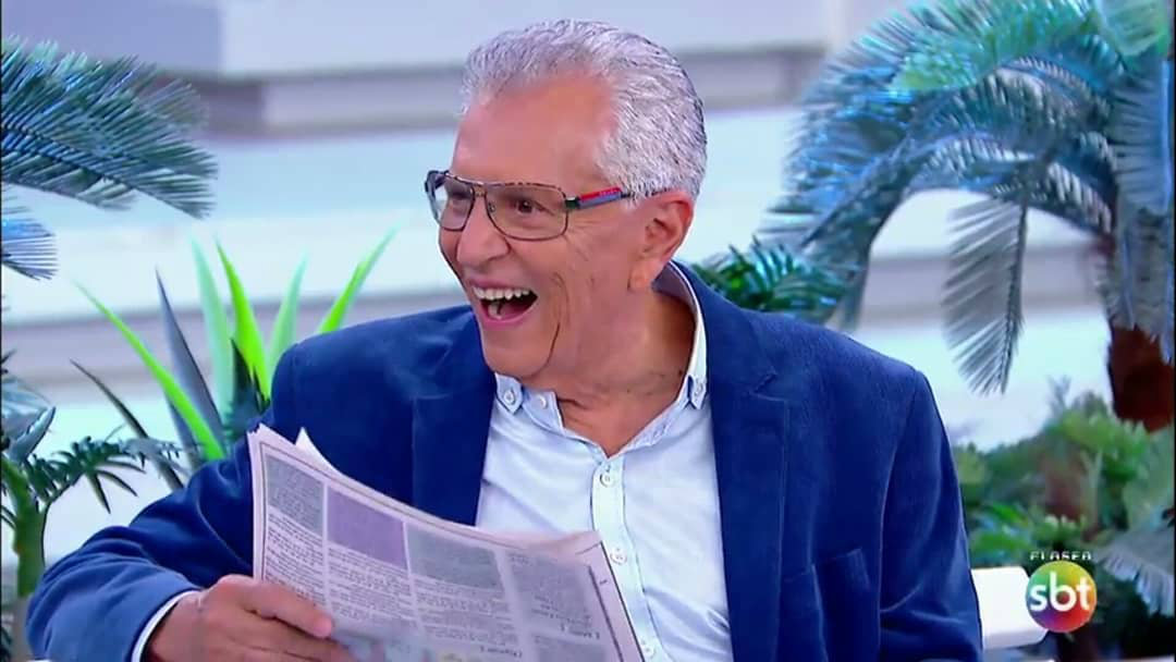 Carlos Alberto de Nóbrega é internado após consumir iogurte vencido