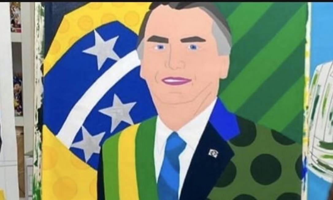 Romero Britto pinta retrato de Bolsonaro e web não perdoa: 'Está de batom'