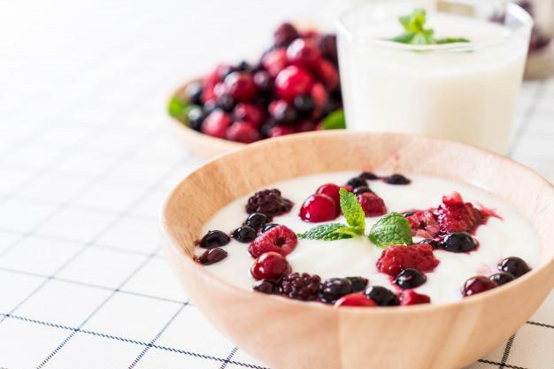Iogurtes são uma alternativa saudável de alimentação.