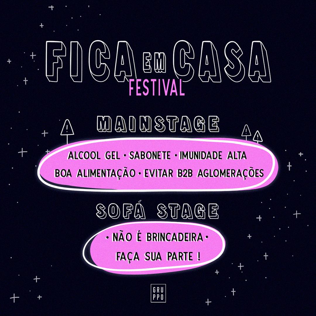 """Produtora Gruppo cria o festival """"FICA em CASA"""" – Confira!"""