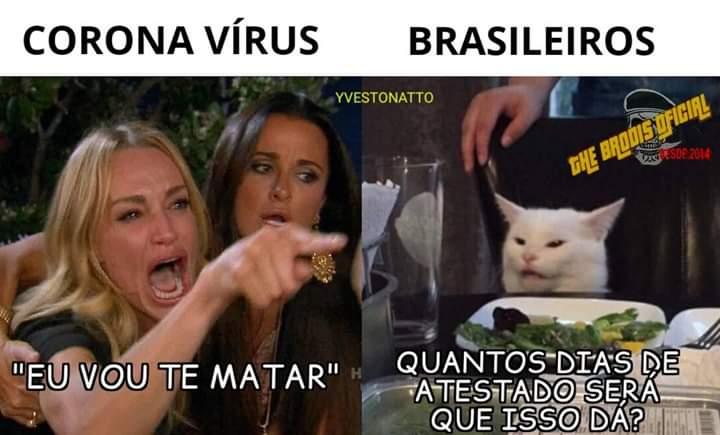 Brasileiro vs corona vírus