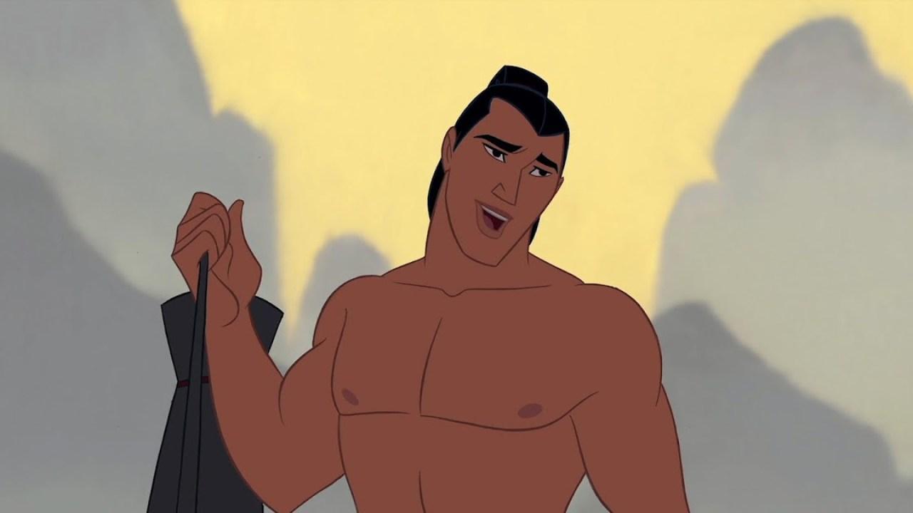 Lee Shang é o par romântico de Mulan em suas animações.