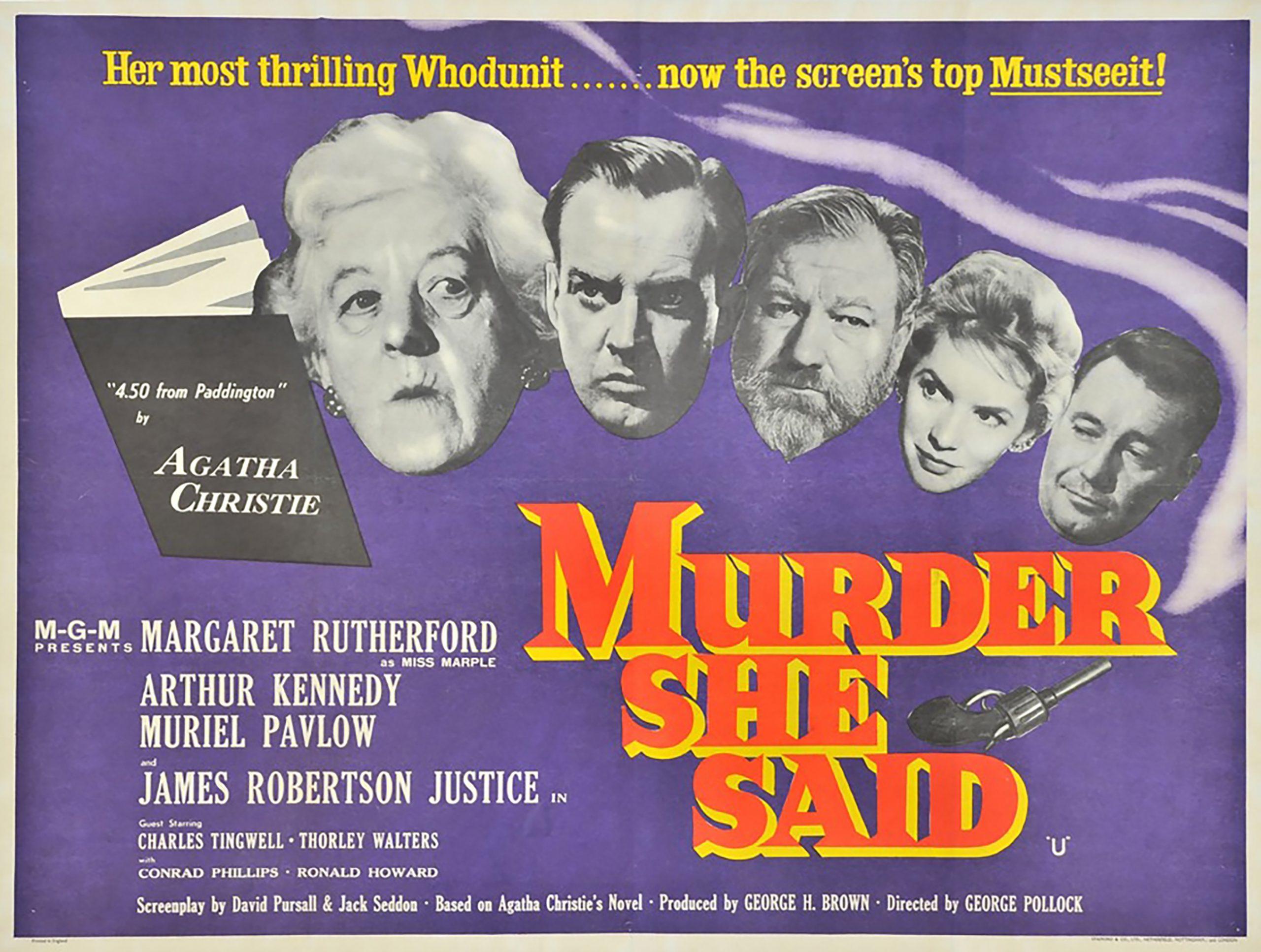Cartaz de divulgação britânico do filme Quem Viu, Quem Matou? | Foto: Fisken Poster.