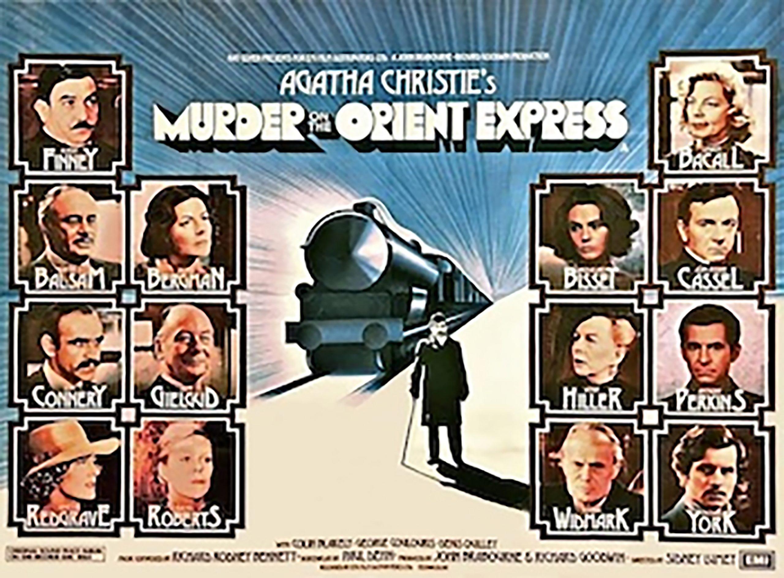 Pôster do Reino Unido do filme Assassinato no Expresso Oriente (1974). | Foto: Wikipédia.