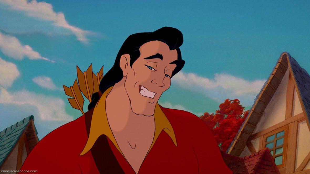 Gaston é obsecado por Bela e o grande vilão da animação.
