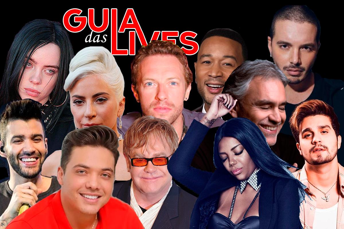 Guia das Lives: a agenda de shows dos artistas para o mês de abril