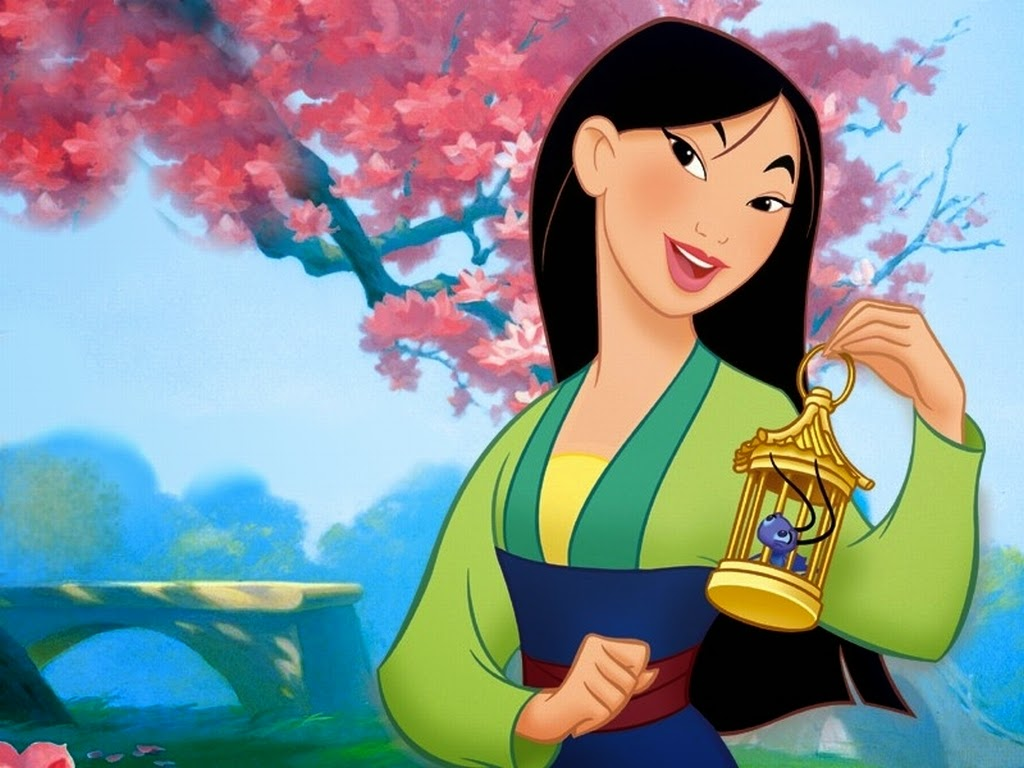 Mulan vestindo seu Hanfu simples.