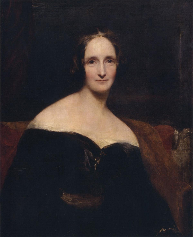 Pintura de Mary Shelley por Richard Rothwell