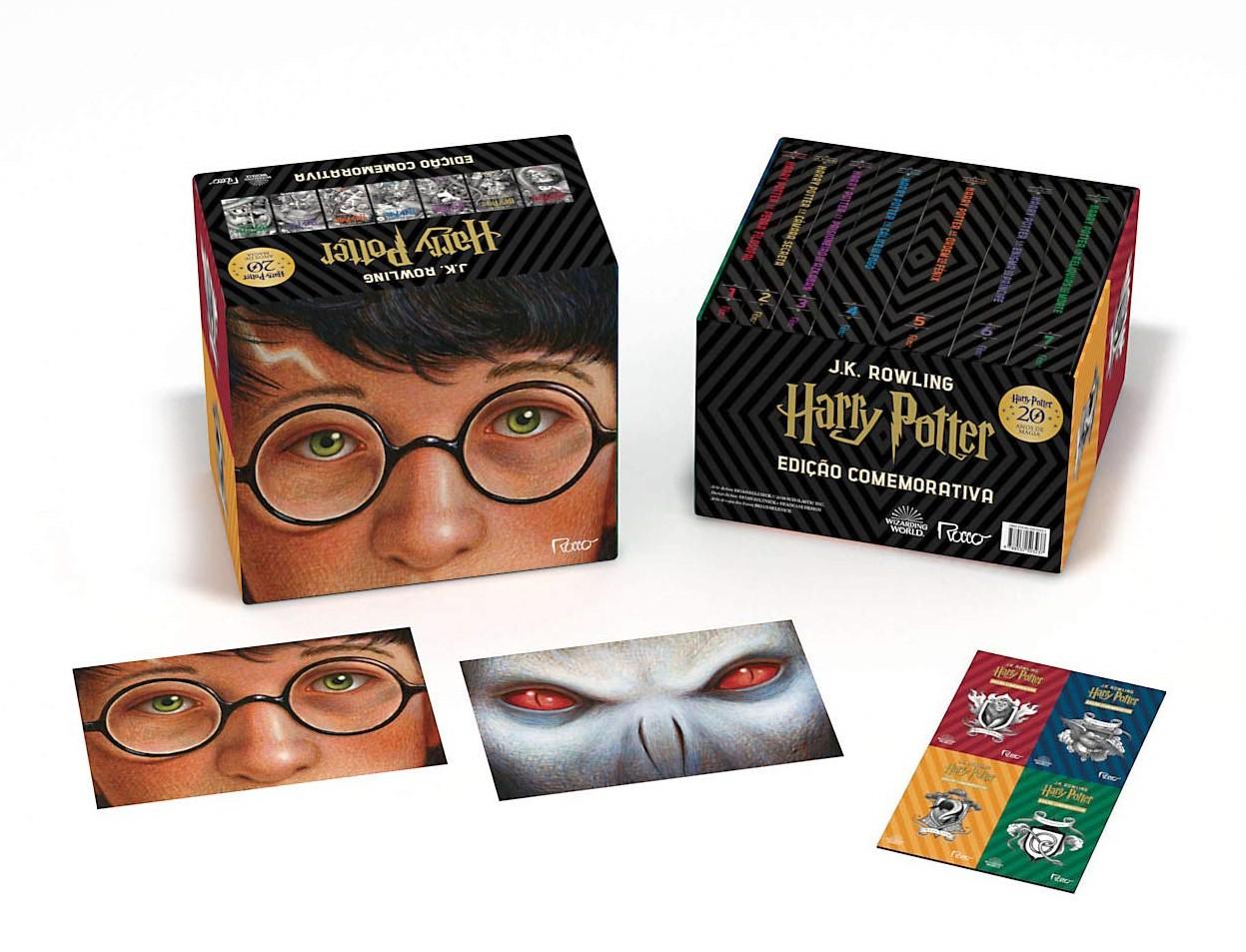 Box edição comemorativa de 20 anos de Harry Potter