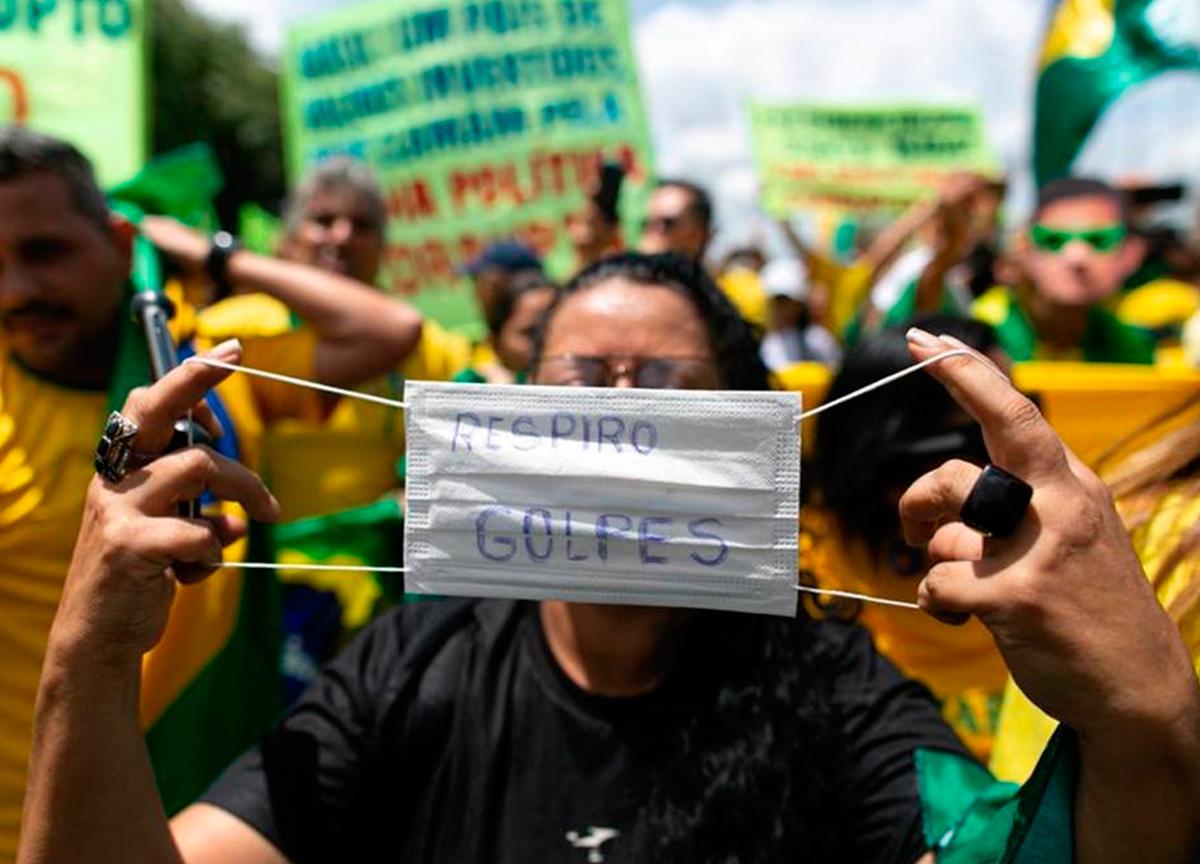 manifestação contra quarentena
