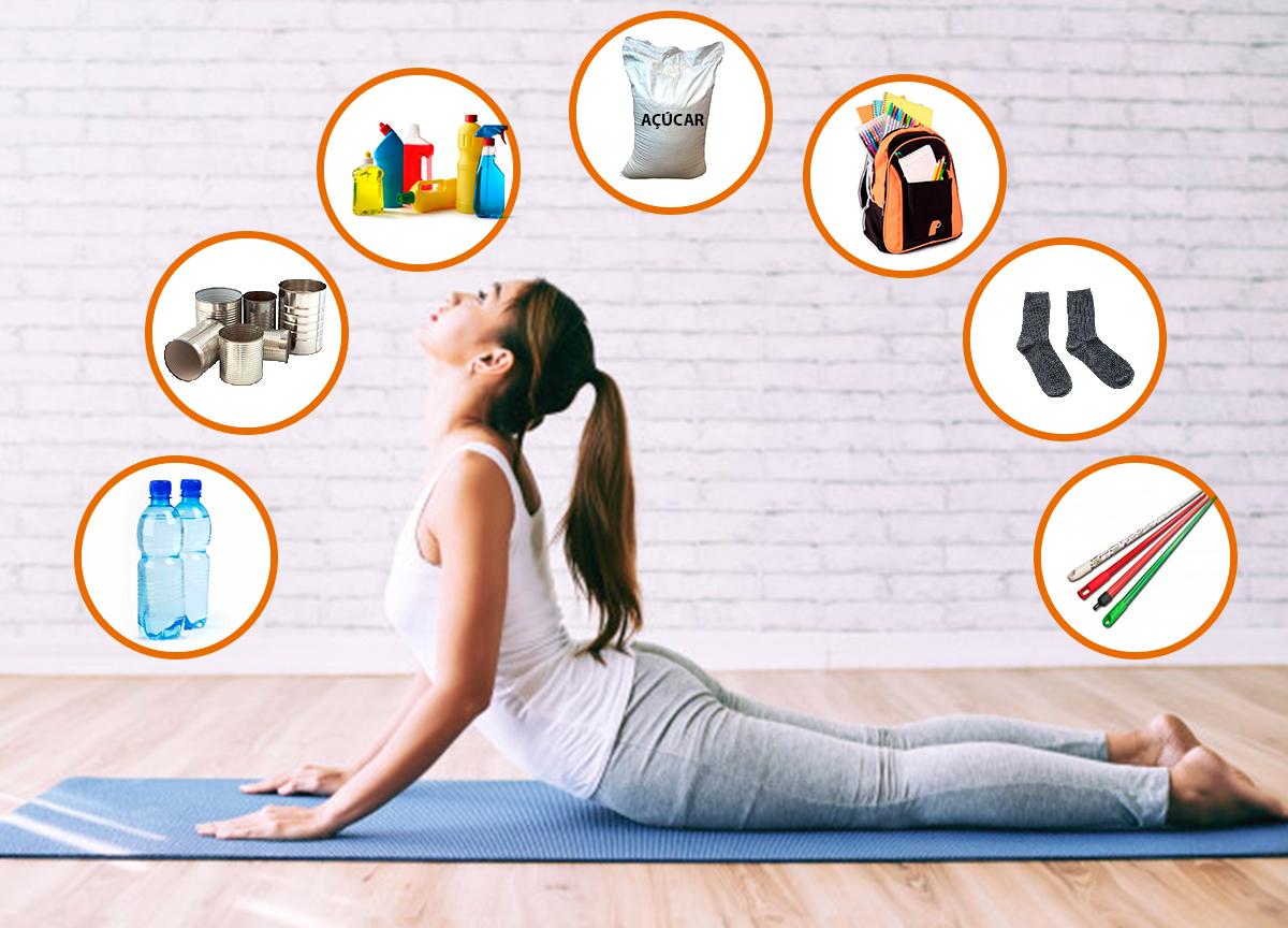 Emagrecer na quarentena: 7 objetos da sua casa para fazer exercícios