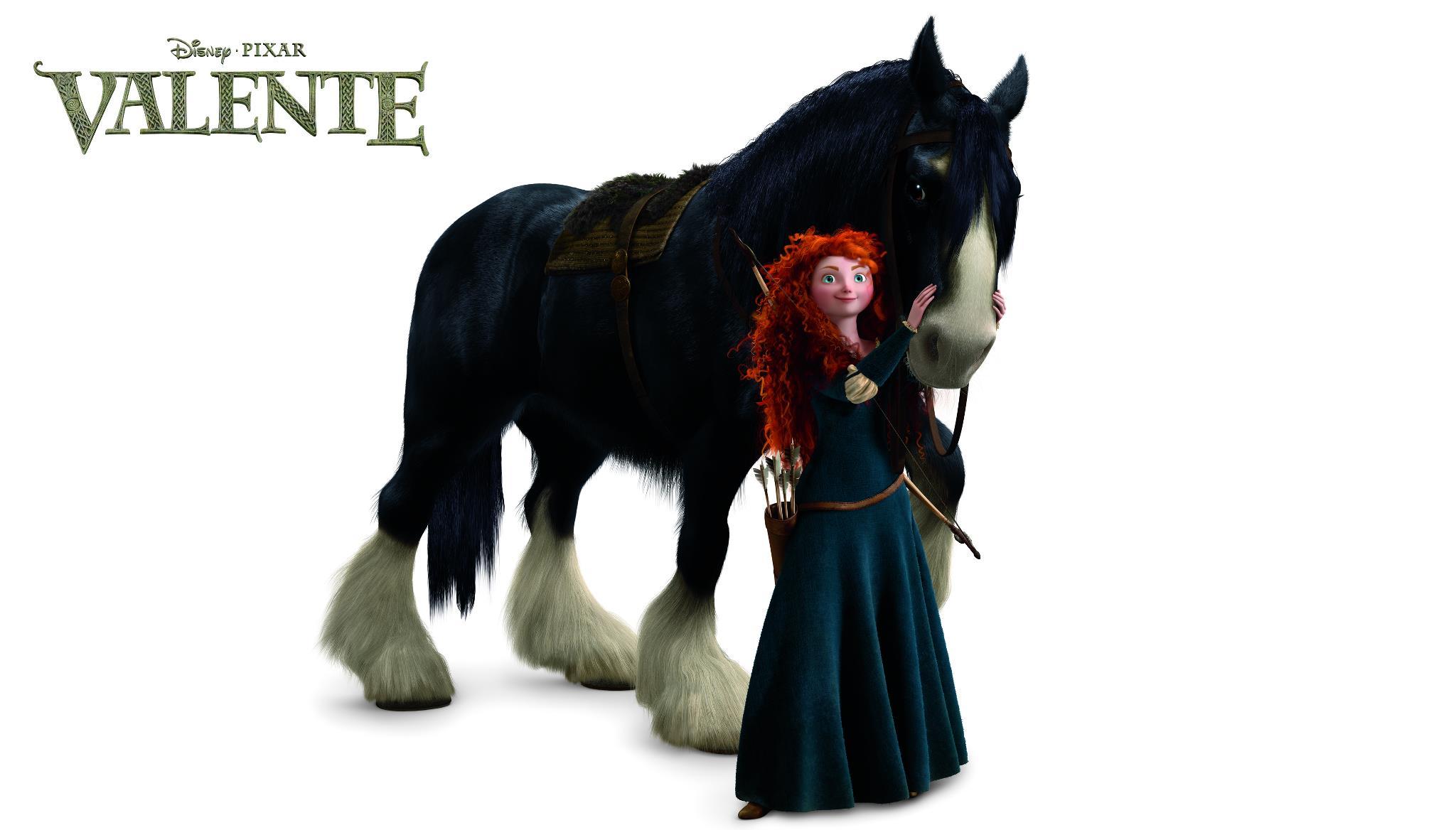 Angus, da raça Shire, é o cavalo da princesa Merida.