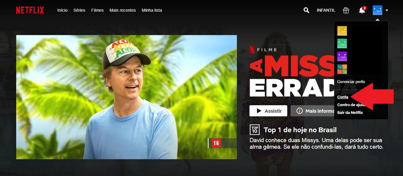 como mudar a legenda na Netflix