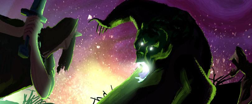 Mor'du é o antagonista na história da Princesa Merida.