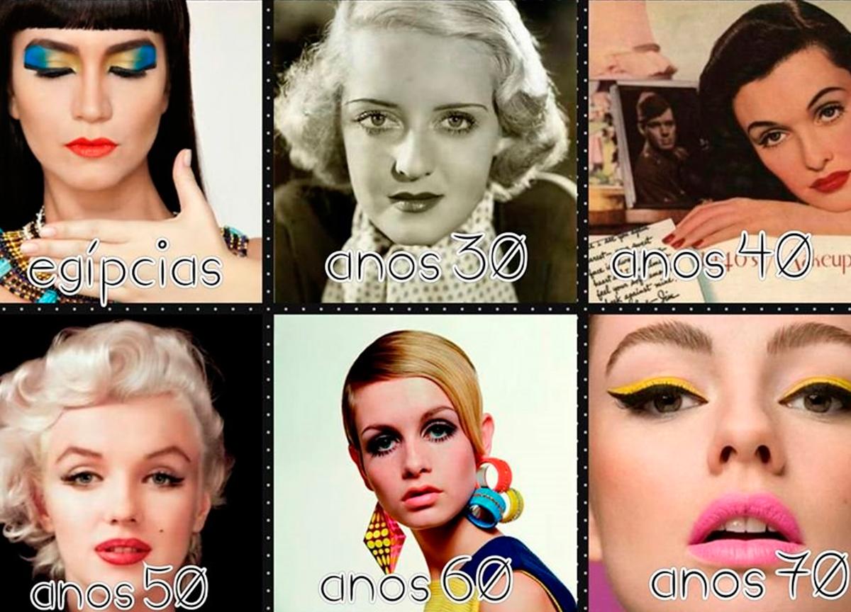 A evolução da maquiagem feminina ao longo dos séculos