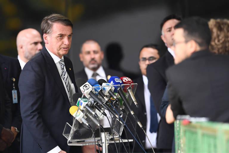 Bolsonaro em coletiva