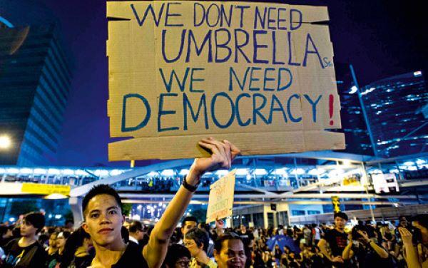 manifestações pela democracia