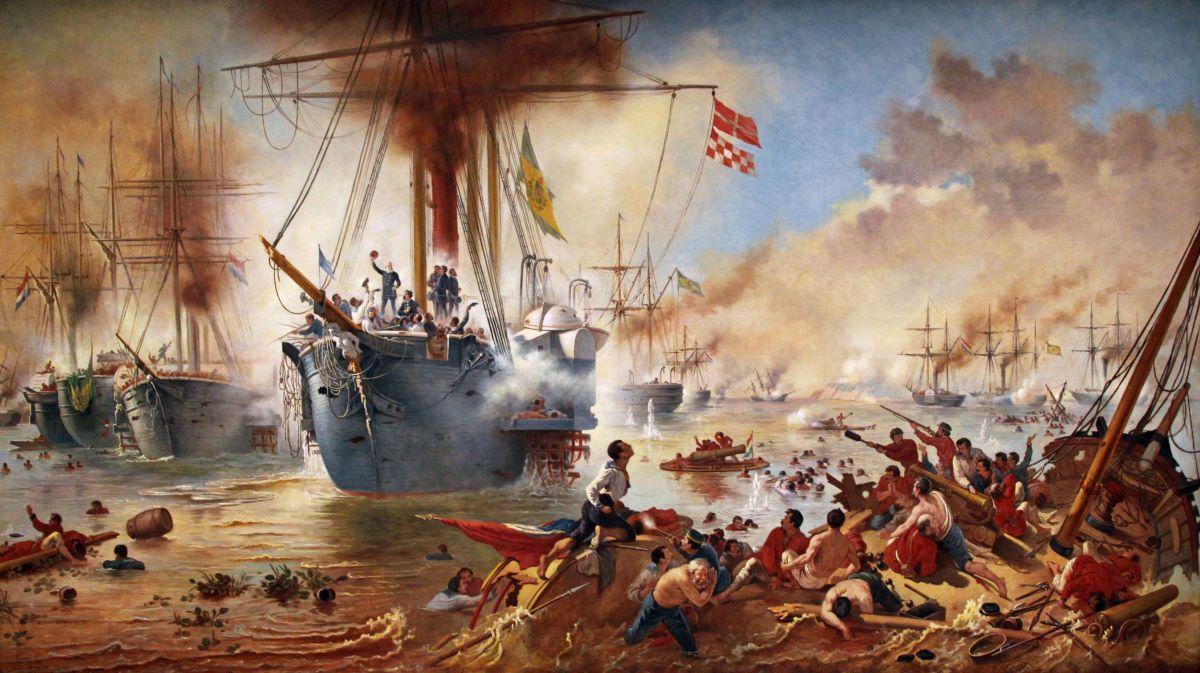 Hoje, 11/06, é o aniversário de 155 anos da Batalha do Riachuelo