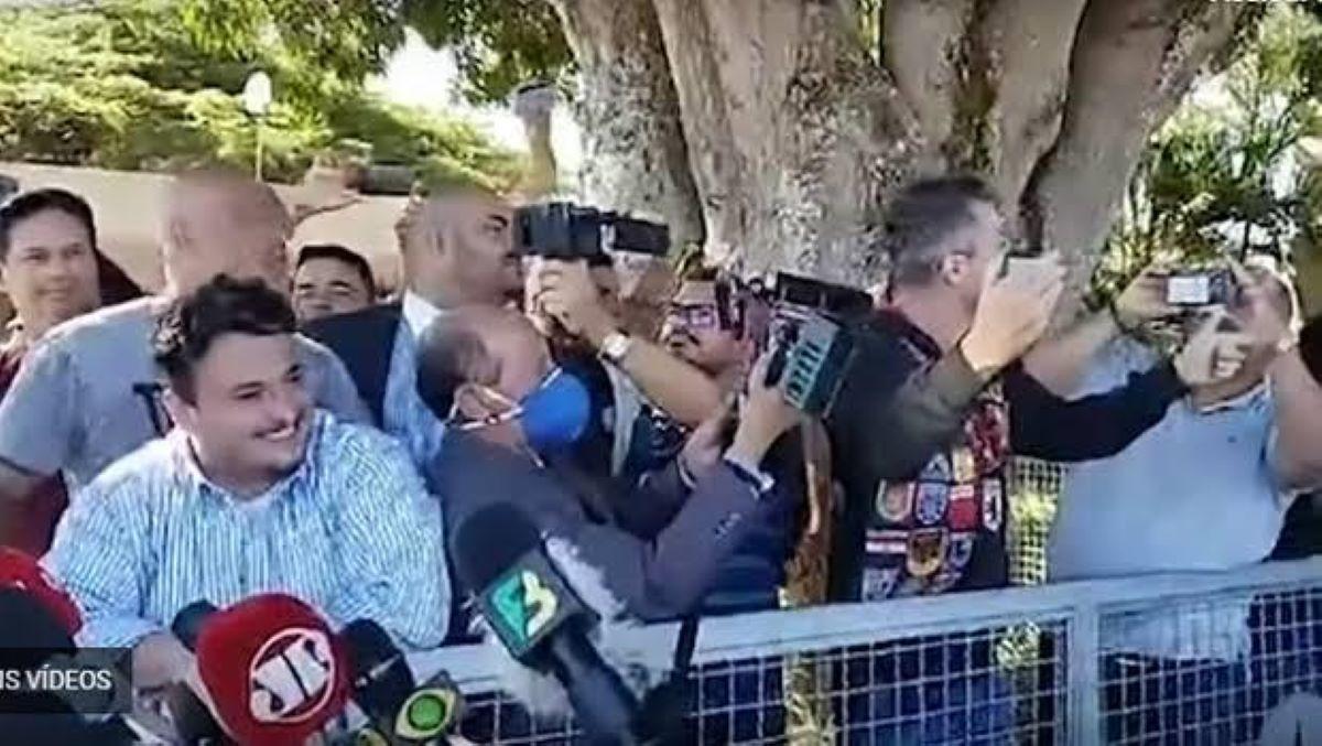 Jornalistas no Palácio Alvorada