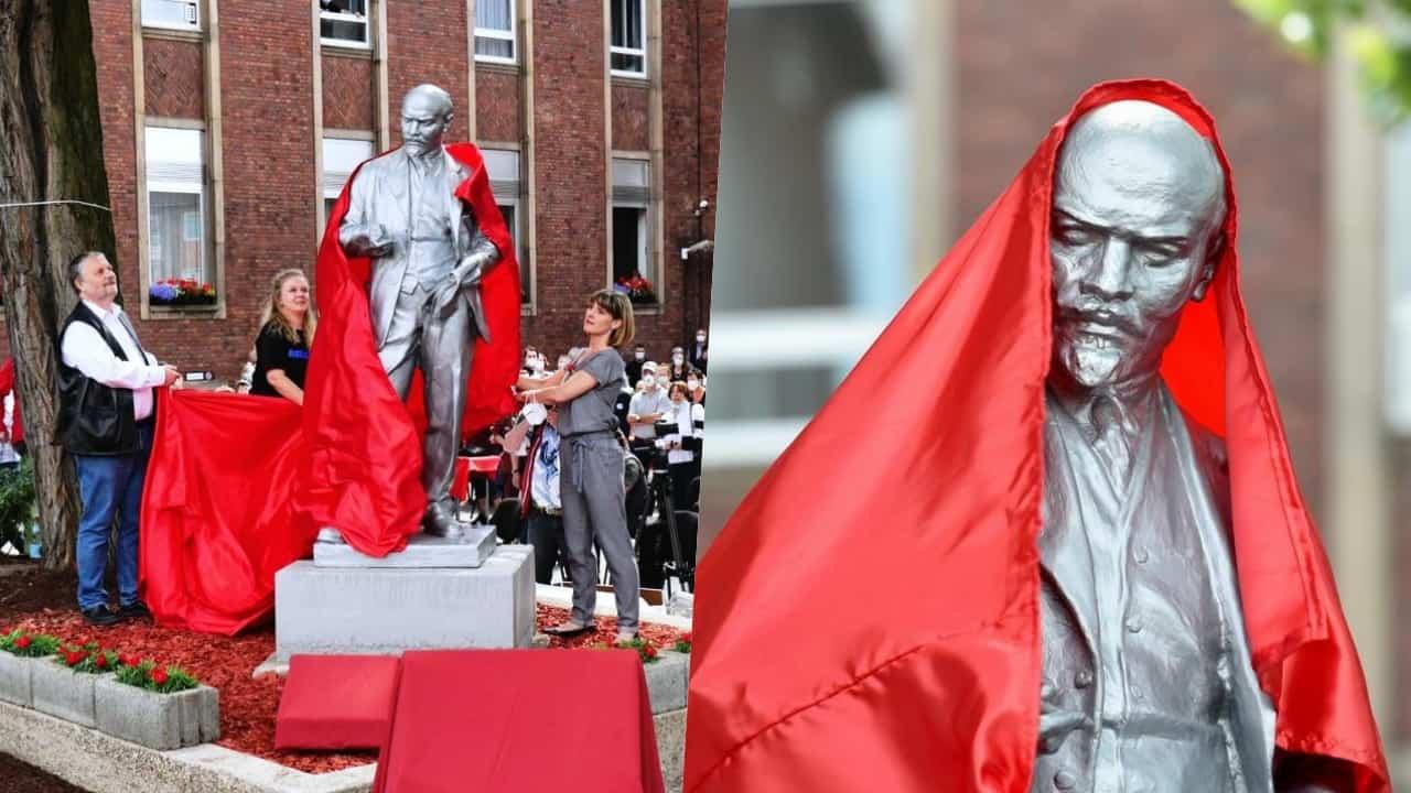 nova estátua de Lenin