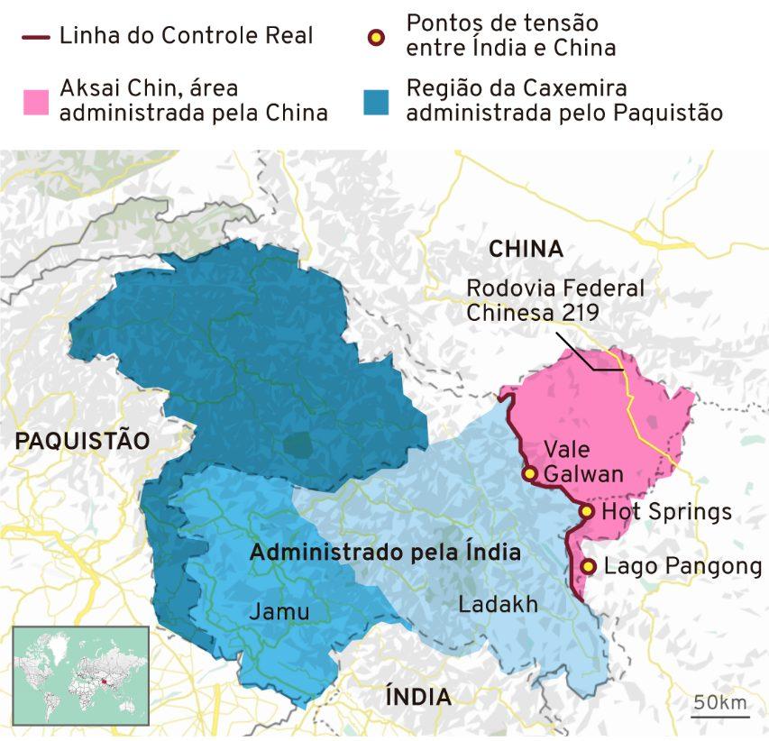 Ladakn é disputada por China e Índia