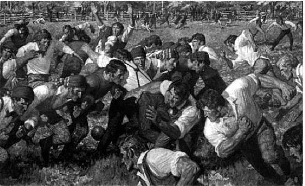 primeiro jogo de futebol americano