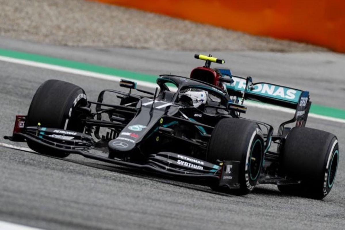 Valtteri Bottas em ação no GP da Áustria, o primeiro da temporada 2020