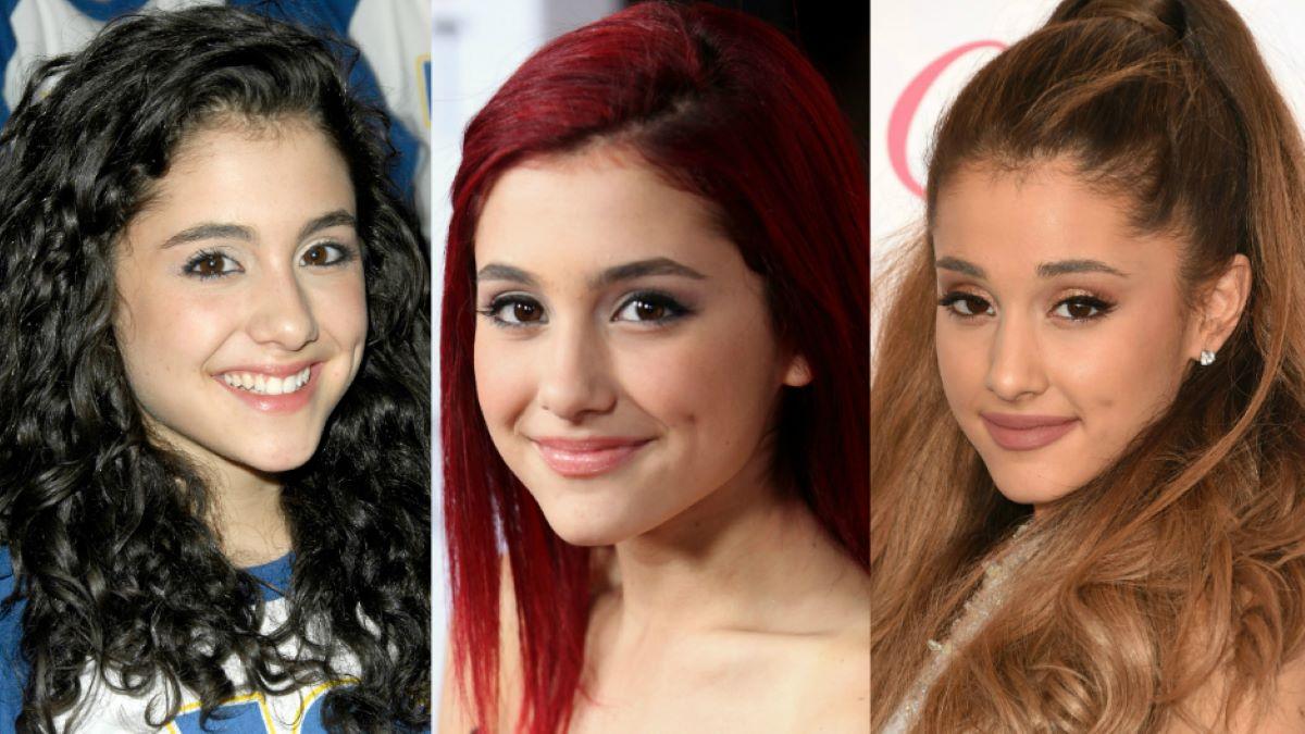 antes e depois de Ariana Grande