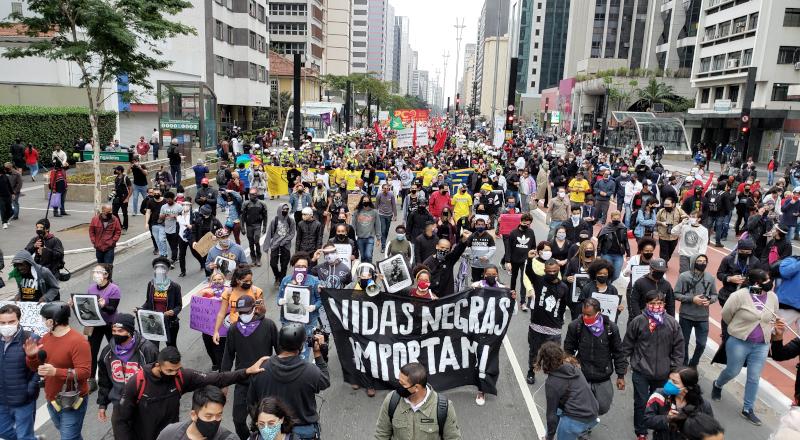Protestos antirracistas no Brasil