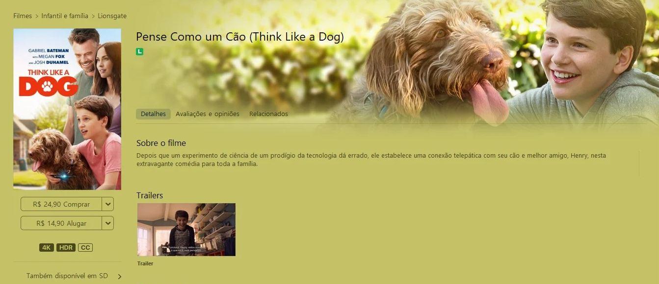 pense como um cão apple tv