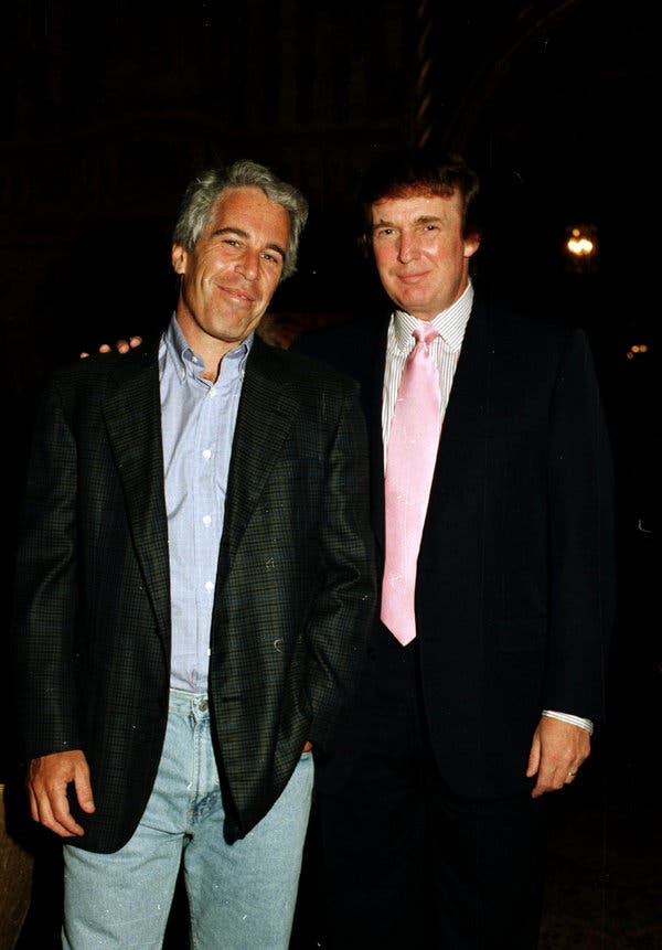 relação entre Epstein e Trump
