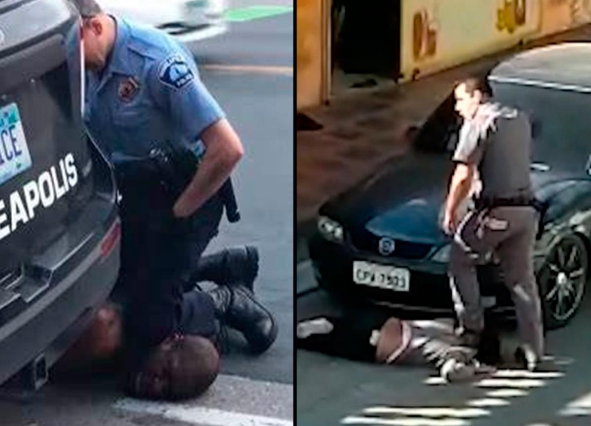 Mulher negra é agredida por PM, em SP, e relembra caso George Floyd