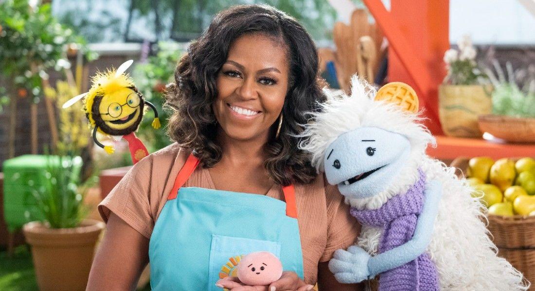 A série infantil de Michelle Obama ensina crianças sobre alimentação saudável.