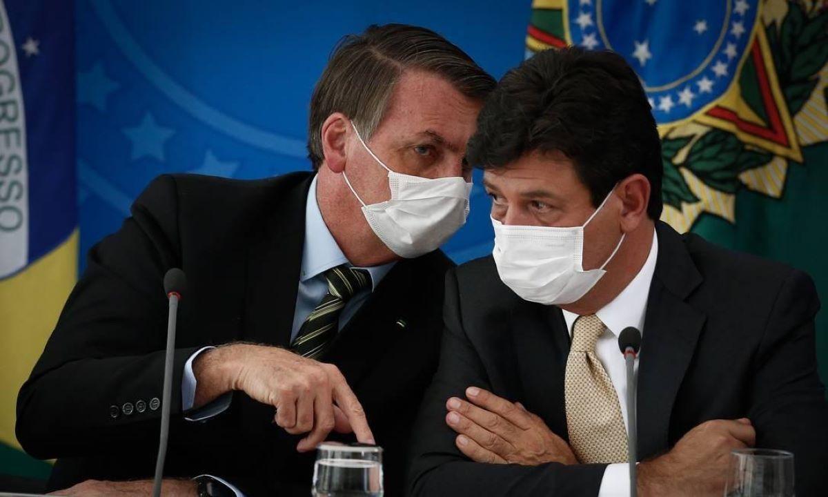 Bolsonaro e Mandetta coronavírus